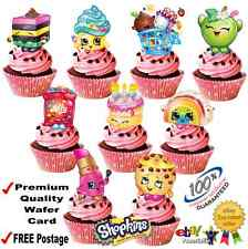 SHOPKINS STAND UP EDIBLE 3D BIRTHDAY PARTY CUPCAKE CAKE WAFER RICE CARD TOPPERS