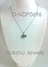 2 Ct Off White Round Moissanite 925 Sterling Silver Fancy Pendant