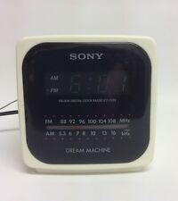 Sony Dream Machine Cube Alarm Clock AM/FM Radio ICF-C122 VTG Works