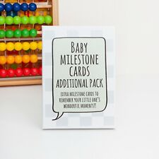 Additional Baby Milestone Cards with keepsake box. Ideal baby shower gift