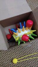 Diy magnetic colorful hedgehog parent-child interactive wooden building blocks c