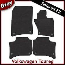 VOLKSWAGEN VW TOUAREG Tailored MONTATO Tappeti Tappetini AUTO GRIGIO (2010 2011 2012...)