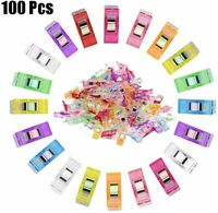 100Pcs Plastic Quilter Holding Wonder Clips Quilt Binding Sewing Accessories US
