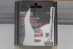 """Ridgid Alloy Steel SAE 1/2"""" NPT Hand Threader Complete Die Head 00-R 36890R"""