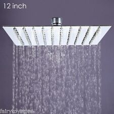 12'' Square Rain Shower Head Stainless Steel High Pressure Ultra Thin Hot Sale