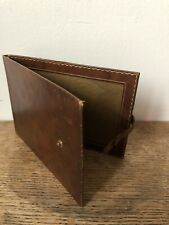 Vintage Leather Travel Photo Frame With Gold Detailing c1940s