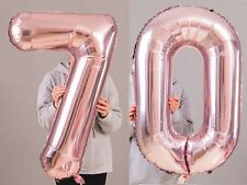"""70th Birthday Party 40"""" Foil Balloon HeliumAir Decoration Age 70 Rose Gold lite"""