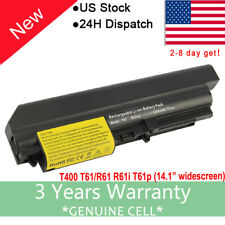 New Laptop Battery for Lenovo Thinkpad T400 T61 41U3198 42T5262 42T5263 6-Cells