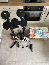 PlayStation PS3 Rock Band Mic, 2 Guitar and Drum Set Bundle ( Free Shipping )