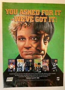 DR. WHO Full Page Print/Promo Ad Magazine Clipping BBC VIDEO new VHS RELEASES