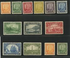 Canada 1928 KGV Scroll issue complete including coils #149-159, 160-161 mhr