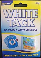 WHITE TACK Re-usable White Adhesive Putty Multi Purpose Handy Pack Stick Fix
