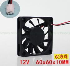 60mm 10mm GDT6010B DC12V 0.16A durable double ball long life cooling fan 2Wire