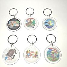 ONE ASSORTED Puerto Rico Round Key Chain Holder Souvenirs Rican holder