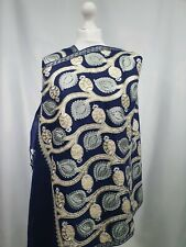 Kashmiri shawl embroidery floral embroidered cashmere wool scarf women's ladies