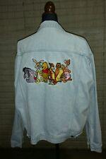 Jean Trucker Jacket Pooh Piglet Eeyore Rabbit Embroidered Large Disney Store