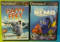 Disney Happy Feet + Finding Nemo -  PS2 Playstation 2 Game Lot Tested Complete