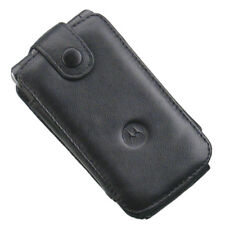 Motorola Black Leather Pouch Case w Belt Clip for i890 / BALI / MOTO W755