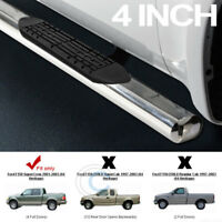 """4"""" OVAL SS CHROME SIDE STEP NERF BAR running board 01-03 F150 CREW/SUPERCREW CAB"""