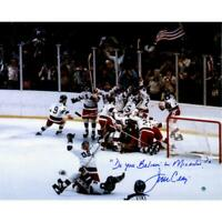 Jim Craig USA Hockey 1980 Olympics 16x20 Photo & Do You Believe In Miracles Insc