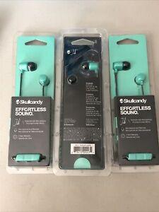 Lot Of (3) Skullcandy Jib Effortless Earbuds W/ Microphone - Green