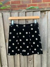 Bonpoint girls velvet black with silver dots shorts size 12 years