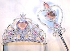 PRINCESS TIARA WAND SET dressup girls crown costume terria head kids pretend toy