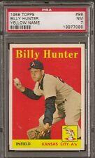 1958 Topps Set # 98 Billy Hunter Yellow Name PSA 7