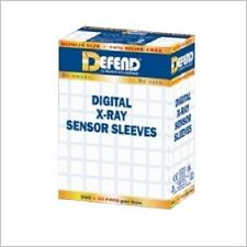 "DIGITAL X-RAY SENSOR SLEEVES 1 5/8"" X 8"" BOX OF 500 CLEAR PLASTIC DEFEND"