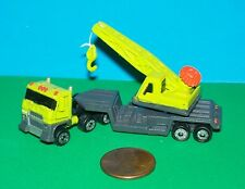 Micro Machines  CRANE with SEMI ( miniature construction vehicle )   NEW