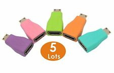 LOT 5 Colorful - Mini-HDMI Type C to HDMI M/F Adapter Coupler Converter Adaptor