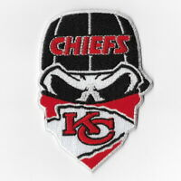 Kansas City Chiefs Iron on Patches Embroidered Patch Applique Skull Mask Sew FN
