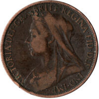1900 ONE PENNY OF QUEEN VICTORIA      #WT532