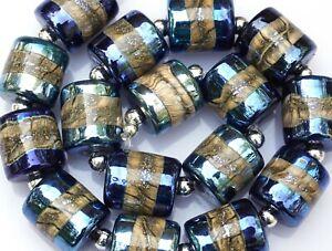 FRISKEY handmade Lampwork Glass Beads, MIDNIGHT !!!