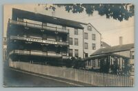 Veranda House NANTUCKET Massachusetts RPPC Antique Hotel Photo Postcard 1909