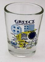 GREECE EU SERIES LANDMARKS AND ICONS COLLAGE SHOT GLASS SHOTGLASS