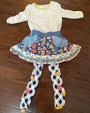 Matlida Jane Girls Outfit 4 6 Teapot Skirt Citron Dot Top Tippy Toes Tights