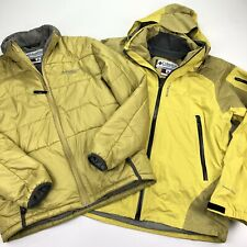 Columbia Titanium 3 In 1 Interchange Tech Jacket Puffer Yellow • Large