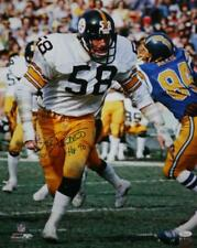 7108277bf Jack Lambert HOF Autographed Steelers 16x20 Against Chargers PF Photo- JSA  W Aut