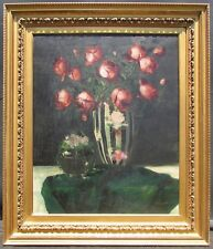 Art Deco Style Painting Still Life with Roses