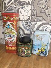 3 X Biscuit Sweets Storage Tins