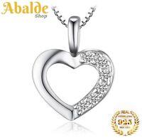 Collar Colgante Joya Corazón de Plata 925 Para Mujer - Regalo Día de la Madre