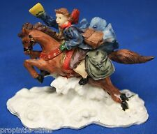 """COURIER on Horse Back in Snow ~ 2.75"""" tall"""