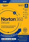 Norton 360 Deluxe 2021 5 Devices 5 PC 1 Year + Secure VPN Internet Security 2022