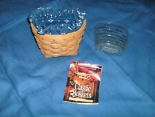 Longaberger Oregano Booking Basket #13145 With Liner/Protector