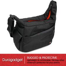 Messenger Sling Bag/Case in Black/Orange for Pentax SP 10x50 WP Camera