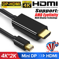 10FT/3M Mini DP Display Port to HDMI Cables Adapter FOR Macbook Apple TV PC MAC