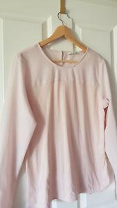 Rich & Royal Damen Shirt Bluse Materialmix rose Gr. L