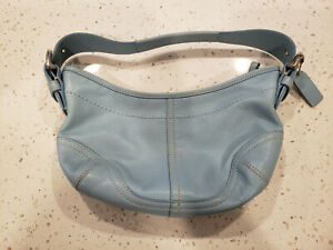 Coach M04D-9541 Baby Blue leather small shoulder bag