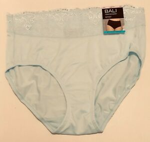 NWT Bali Passion for Comfort Brief Panty DFPC61 Blue Size 6/M